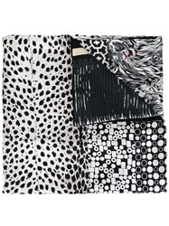 Pierre Louis Mascia Multi Pattern Scarf Black