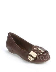 Bcbgeneration Dylann Buckle Toe Loafers Dark Brown