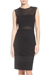 French Connection Women's Lula Mesh Inset Dress