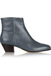 Common Projects Leather Ankle Boots Anthracite