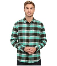 Prana Channing Flannel Dark Olive Men's Clothing