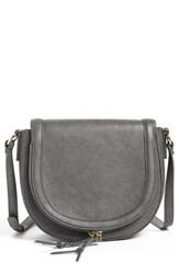 Sole Society 'Thalia' Crossbody Bag Grey Grey Forged