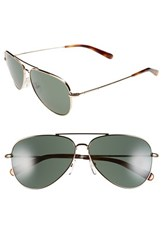 Women's Bobbi Brown 'The Dakota' 59Mm Aviator Sunglasses Gold