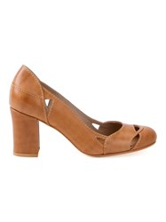 Sarah Chofakian Chunky Heel Pumps Nude And Neutrals