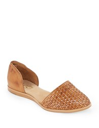 Seychelles Eager Woven Leather Flats Tan