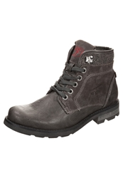 Tom Tailor Laceup Boots Coal Dark Gray