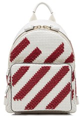 Anya Hindmarch Striped Mini Woven Leather Backpack Multicolor