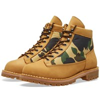 A Bathing Ape Combat Boot Brown