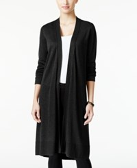 Alfani Open Front Long Cardigan Only At Macy's Deep Black
