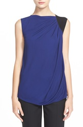 Armani Collezioni Sleeveless Colorblock Top Black Bluette