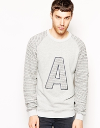 Anerkjendt Sweatshirt With 'A' Applique Grey
