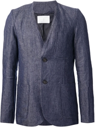 Societe Anonyme Collarless Blazer Blue