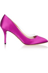 Charlotte Olympia Party Desiree Pvc Trimmed Satin Pumps Purple