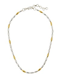 Gurhan Wheat Two Tone Beaded Necklace 16 L