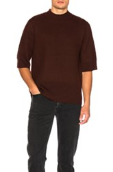 Craig Green Boiled Short Sleeved Sweater In Red