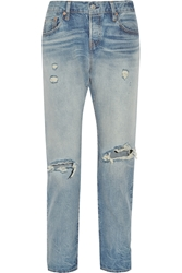 Levia S 501 Ct Jeans 501 Ct Distressed Mid Rise Straight Leg Jeans