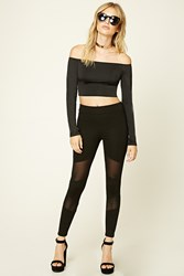 Forever 21 Mesh Panel Leggings