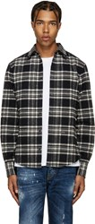 Dsquared Black And White Flannel Check Shirt