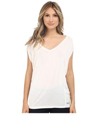 Bench Amplize C Short Sleeve Top Bright White Women's Short Sleeve Pullover