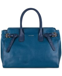 Cole Haan Emery Small Satchel Deep Lake Ocean