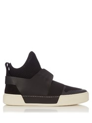 Balenciaga Panelled High Top Trainers Black
