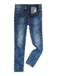 Dr. Denim Tapered Skinny Medium Wash Dropped Crotch Jeans Denim Mid Wash
