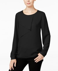 Bar Iii Long Sleeve Overlay Top Only At Macy's Black