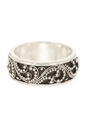 Lois Hill Sterling Silver Signature Granulated Band Ring Size 7 No Color