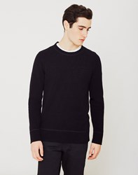 Nudie Jeans Co Dag Recycled Wool Knit Jumper Black