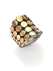 John Hardy Dot 18K Yellow Gold And Sterling Silver Saddle Ring