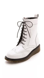 Studio Pollini Lined Lace Up Booties White