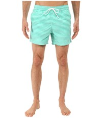 Lacoste Taffeta Gingham Swim Short 5 Papeete White Men's Swimwear Blue