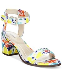 Styleandco. Style And Co. Mullaney Ankle Strap Embellished Sandals Only At Macy's Women's Shoes Floral