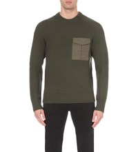 Rag And Bone Elijah Crew Neck Jumper Army Green