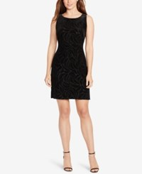 American Living Burnout Velvet Dress Black