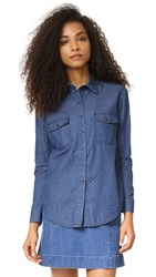 The Fifth Label Let's Dance Shirt Chambray Polka Dot