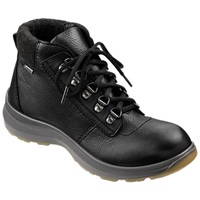 Hotter Wharfe Cushioned Collar Walking Boots Black Leather