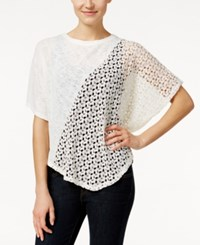 Styleandco. Style And Co. Asymmetrical Crochet Panel Top Only At Macy's Vintage Cream