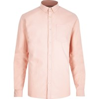 River Island Mens Pink Pink Oxford Shirt