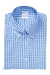 Brooks Brothers Long Sleeve Micro Check Shirt Blue
