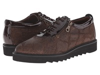 Helle Comfort Damiana Brown Python Women's Lace Up Casual Shoes