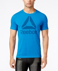Reebok Men's Supremium Logo T Shirt Blue