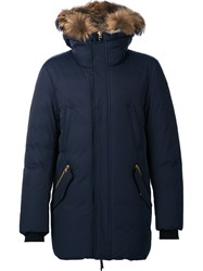 Mackage 'Edward' Faux Fur Hood Parka Blue