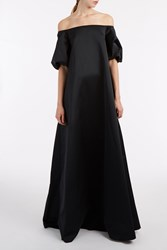 Rochas Off The Shoulder Gown Black