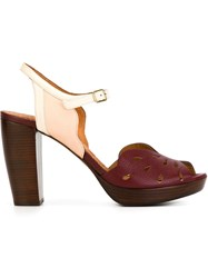Chie Mihara 'Aloha' Sandals Red