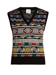 Stella Jean Scusare Wool Blend Sweater Multi