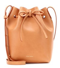 Mansur Gavriel Mini Bucket Leather Crossbody Bag Beige