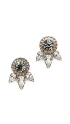 Dannijo Rubie Earrings Silver Crystal Black Diamond