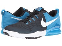Nike Zoom Train Action Black White Blue Glow White Men's Cross Training Shoes
