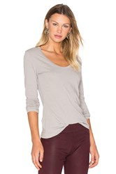 James Perse Extra Long Sleeve Tee Gray